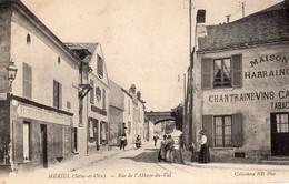 Meriel  78   La Rue De L'Abbaye Du Val Tres Animée-Boulangerie-Epicerie En Face Café-Tabac-_HARRAING - Frankreich