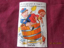"""CPA - Carte à Système - Lamballe - """"On N'a Pas Peur De L'eau!!! Souvevez Le Baquet Et Vous Verrez Lamballe"""" - Lamballe"""