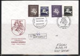 LITHUANIA Cover Special Cancellation LT SPEC 097-1 President Kazys GRINIUS Anniversary - Lituania