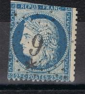 Etoile 9 P 14 Sur N°60C - Marcophilie (Timbres Détachés)