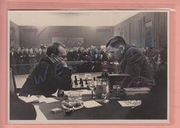 VERY RARE POSTCARD - CHESS - SCHACH - 1930'S - CHESS LEGENDS - MAX EUWE - ALEKSANDR ALJECHIN - AMSTERDAM - Echecs