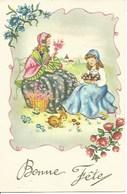 (a) Fetes & Voeux - Bonne Fete- Mere Et Fille Cueuillant Des Fleurs - Fêtes - Voeux