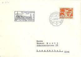 Schweiz 1953: Zu 298 Mi 530 Yv 482 Mit O 1100 JAHRE ALTSTÄTTEN (SG) 6.VII.53 AUTOMOBIL-POSTBUREAU - Lettres & Documents