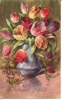 (a) Fetes & Voeux - Bonne Fete- Pot De Tulipes - Fêtes - Voeux