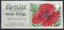 Royaume Uni 2014 Vignette Oblitérée Sur Fragment Fleurs Common Poppy Coquelicot SU - Great Britain
