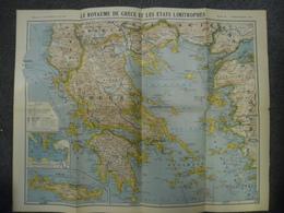 Carte De Mars 1917 - GUERRE 1914 1918 - Le Royaume De GRECE  - Cyclades, Crète, Sporades Mytilène Chio, Iles Ioniennes - Cartes Géographiques