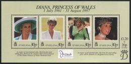 St. Helena 1998 - Mi-Nr. Block 21 ** - MNH - Prinzessin Diana - St. Helena