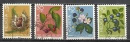 Q505R-SELLOS SUIZA SERIE COMPLETA  PRO JUVENTUD.1973 Nº943/6 FLORA.FLORES,VEGETALES.HELVETIA.SUISSE - Pro Juventute