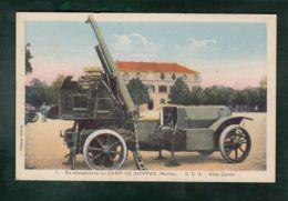 CPA - Milit. - En Manoeuvre Au Camp De Suippes - DCA Auto-canon - Equipment