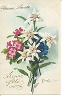 (a) Fetes & Voeux - Bonne Fete- Fleurs Blanches Et Roses - Fêtes - Voeux