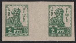 Russia / RSFSR 1923 - Mi-Nr. VI B ** - MNH - Stegpaar - Waagerecht - 1917-1923 Republic & Soviet Republic