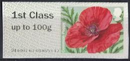 Royaume Uni 2014 Vignette Sur Fragment Fleurs Common Poppy Coquelicot SU - Great Britain
