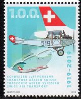SWITZERLAND, 2019, MNH, SWISS AIR TRANSPORT, PLANES, 1v - Airplanes