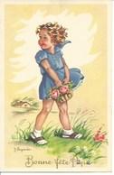 (a) Fetes & Voeux - Bonne Fete- Jeune Fille Au Panier De Rose - Fêtes - Voeux