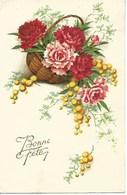 (a) Fetes & Voeux - Bonne Fete- Panier D'euillets Et Mimosas - Fêtes - Voeux