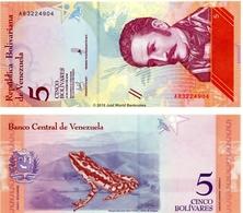 VENEZUELA 3 Banconote 2/5/10 Bolivares 2018 Unc - Bolivië