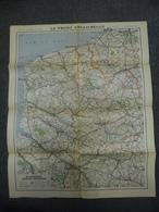 Carte De Juillet 1916 - GUERRE 1914 1918 - Front Anglo-Belge @ Lille Arras Amiens Abbeville Boulogne Calais Dunkerque - Cartes Géographiques