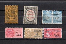 DT44D FRANCE 6 TIMBRES OBL FISCAL FISCAUX REVENUE REVENUES DIMENSION - Revenue Stamps
