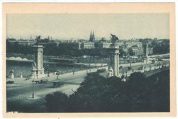 POSTAL   -PARIS  -FRANCIA  - LE PONT ALEXANDRE III - Puentes