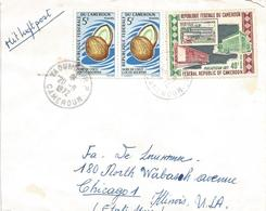 Cameroon Cameroun 1972 Yaounde Stamps On Stamps Coconut Fruit Cover - Kameroen (1960-...)