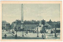 POSTAL   -PARIS  -FRANCIA  -PLACE DE LA CONCORDE LES FONTAINES ET L'OBELISQUE - Plazas