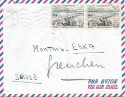 Cameroon Cameroun 1957 Yaounde Wouri Riber Bridge Cover - Brieven En Documenten