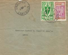 Cameroon Cameroun 1942 Ebolowa Rubber Tapping Domestic Cover To Ambam - Brieven En Documenten