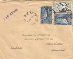 Gabon Cameroun 1950 Oyem Via Ebolowa Liana Forest Cover - Brieven En Documenten
