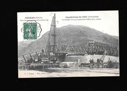 C.P.A. DES INONDATIONS DE 1907 A SARRAS 07 - Francia