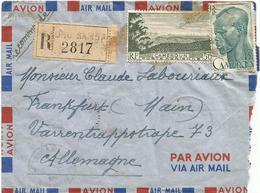 Cameroon Cameroun 1954 Nkongsamba Landscape Headderess Coiffure Registered Cover - Kameroen (1915-1959)
