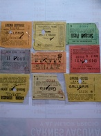 Italy  1920-1945 9 Biglietti De Ingreso Al Cinema Tutte Con Data Alcuni Con Título De Filme Al Reverso Génova Milano - Altre Collezioni