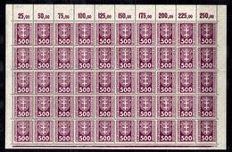 Dantzig Taxe Michel N° 25 En Bloc De 50 Timbres Neufs ** MNH. TB. A Saisir! - Dantzig