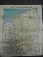 Carte De Novembre 1917 - BELGIQUE OCCIDENTALE Guerre 1914 1918 - Centre Vers Roulers Dixmude Thourout - Cartes Géographiques