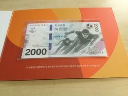 KOREA SOUTH P58 2000 WON 2018 #AA----A. PYONGCHANG COMMEMORATIVE & ORIGINAL FOLDER UNC. - Korea, South