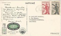 Cameroon Cameroun 1953 Douala Pygmee Hunter Crossbow IONYL Viewcard - Kameroen (1915-1959)