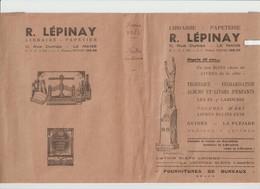 Vieux Papier  :  R.  Lépinay , LE  MANS  , Fournitures  De  Bureau - Images Religieuses
