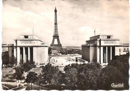 POSTAL   -PARIS  -FRANCIA  -  PERSPECTIVE SUR LE PALAIS DE CHAILLOT ET LA TOUR EIFFEL - Tour Eiffel