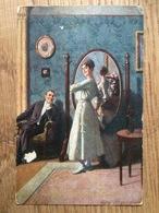 Künstlerkarte AK 'Vor Dem Feste' Asco Nr. 5958, Gelaufen Als Feldpost 1918 Ohligs, WW I - Illustratoren & Fotografen