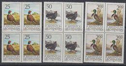 Liechtenstein 1990 Jagd II 3v Bl Of 4 ** Mnh (42148G) - Liechtenstein