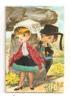 Couple De Danseurs- Espagnol Carte Brodée(C.9930) - Brodées
