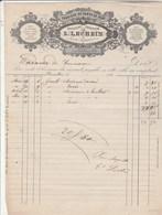 Belgique Facture Illustrée 186? L LECHEIN Gants De Peau ( Peau De Chien Castor Chamois Etc ) BRUXELLES - 1800 – 1899
