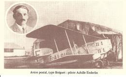 LIGNES AÉRIENNES LATÉCOERE FRANCE ESPAGNE ALGERIE MAROC SENEGAL - AVION POSTAL TYPE BRÉGUET  Pilote ACHILLE ENDERLIN - Other