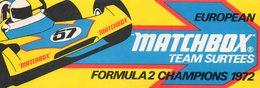 Autocollant MATCHBOX FORMULE 1 - Aufkleber