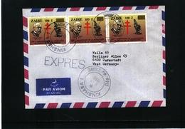 Zaire 1990 Interesting Airmail Letter - 1990-96: Gebraucht