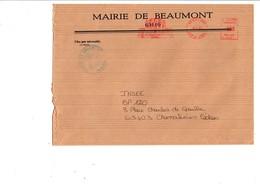 LETTRE DE MAIRIE DE BEAUMONT PUY DE DOME - Marcophilie (Lettres)