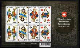 SWITZERLAND, 2018, MNH, GAMES, CARDS,  SWISS JASS , SHEETLET - Other