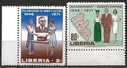 Liberia 1971 Scott 555-556 MNH Women's Suffrage, Map - Liberia