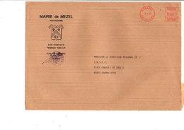 LETTRE DE MAIRIE DE MEZEL PUY DE DOME - Marcophilie (Lettres)