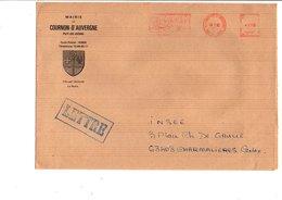 LETTRE DE MAIRIE DE COURNON D'AUVERGNE PUY DE DOME - Marcophilie (Lettres)