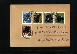 Germany DDR 1969 Minerals Interesting Letter - Mineralien